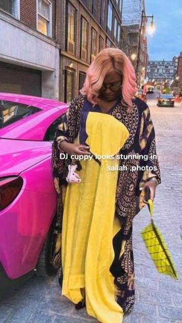 DJ cuppy looks stunning in sallah ,photos